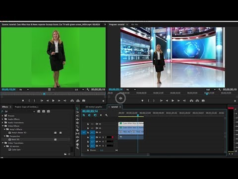 How to Remove Green Screen in Adobe Premiere cc (Chroma Key, Remove Background) Tutorial