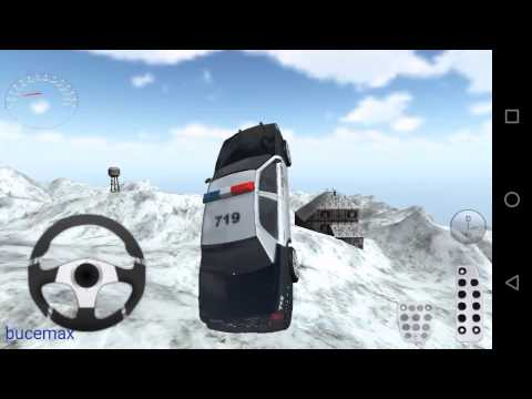 Oyuncak Arabalar Polis Arabası Karda Sürme Oyun çizgi Filmi