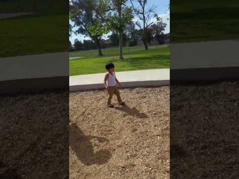 Jiro having fun @ the Sundance school playground