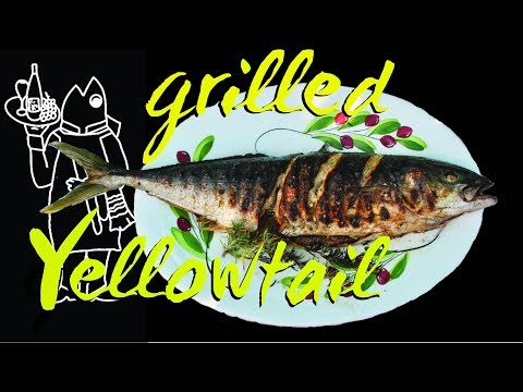 Catch And Cook Yellowtail Recipe? 😊  Whole Grilled Fish Starring A 7lb Yellowtail!