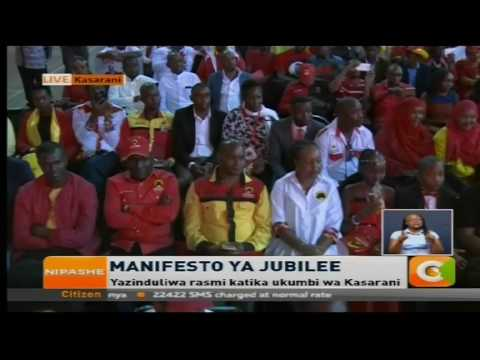 President Kenyatta and DP Ruto launches Jubilee 2017 manifesto