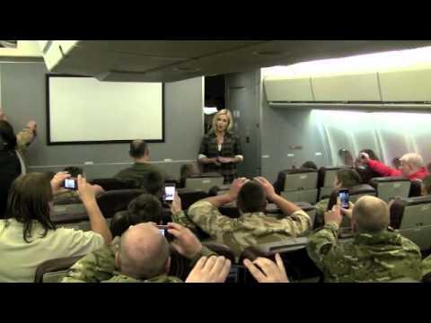 Katherine Jenkins sings on plane