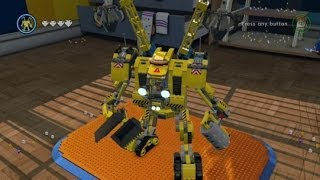 LEGO Movie Videogame - Golden Instruction Build #13 - Emmet's Mech Showcase thumbnail
