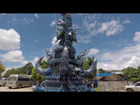 Financing a Motorbike, The Blue Temple and Wat Huay Plakang
