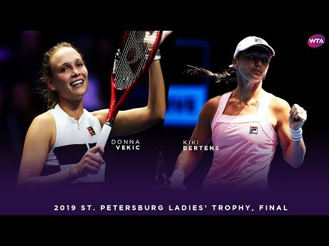 Donna Vekic vs. Kiki Bertens | 2019 St. Petersburg Ladies Trophy Final | WTA Highlights