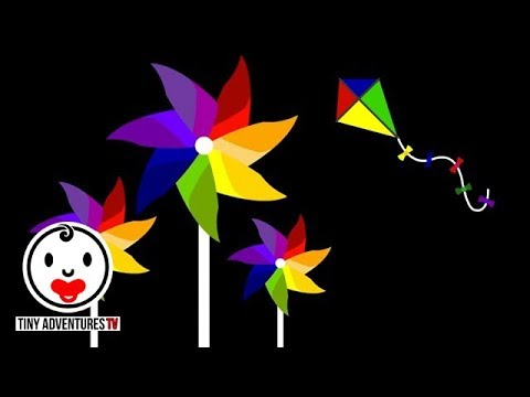 Baby Sensory | Colour Animation #7 - Pinwheel (Infant Visual Stimulation) | stop baby from crying