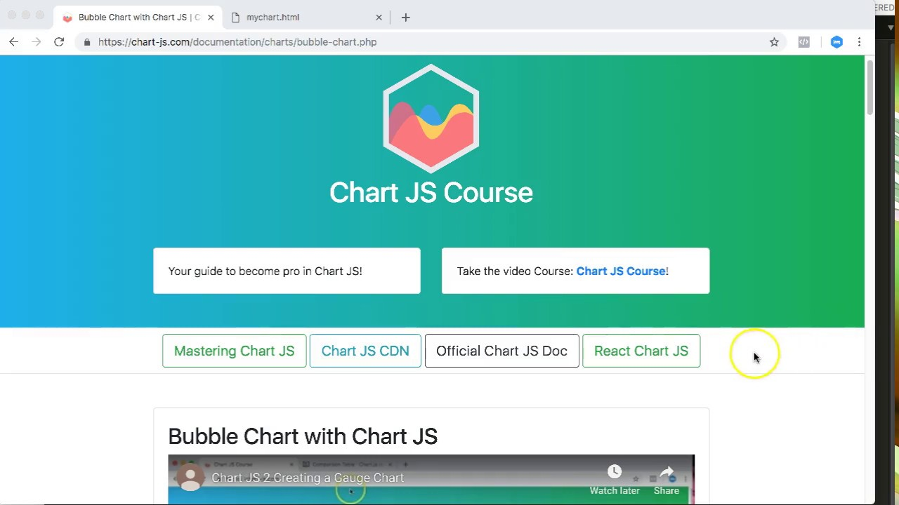 Bubble Chart with Chart JS | Chart JS Course