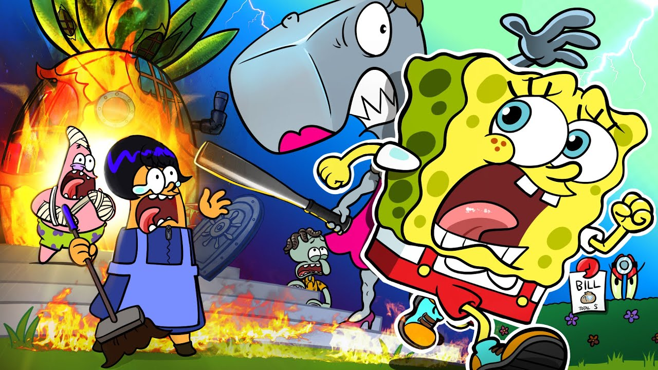 [Sad Story Animation]🔥No No, SpongeBob House Is on Fire😢 | Sad Story But Happy Ending! | SLIME CAT