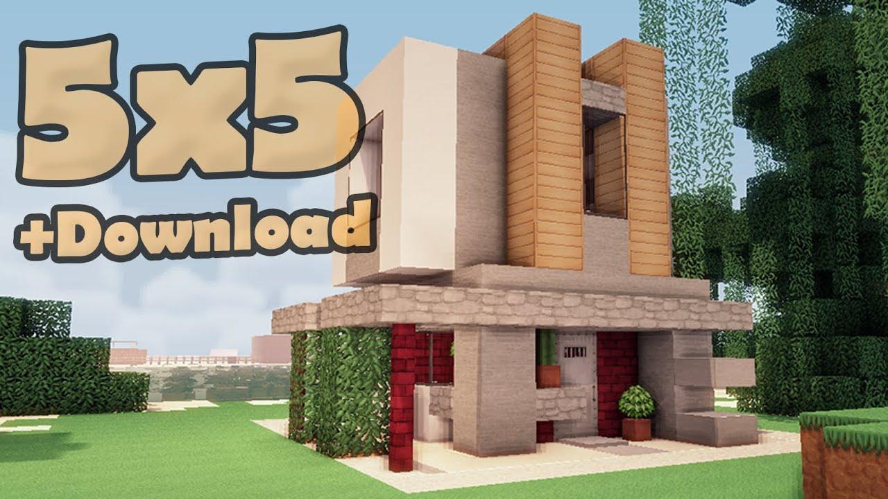 Minecraft 5x5 house 5 viyoutube for Modern house 5x5