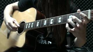 supper moment - P.S. I LOVE YOU  木結他 acoustic guitar chord solo finger style cover by Eric Lo