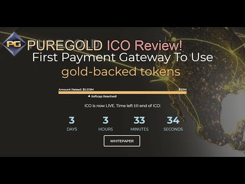 PureGold ICO Review | Real Gold Backed ICO!