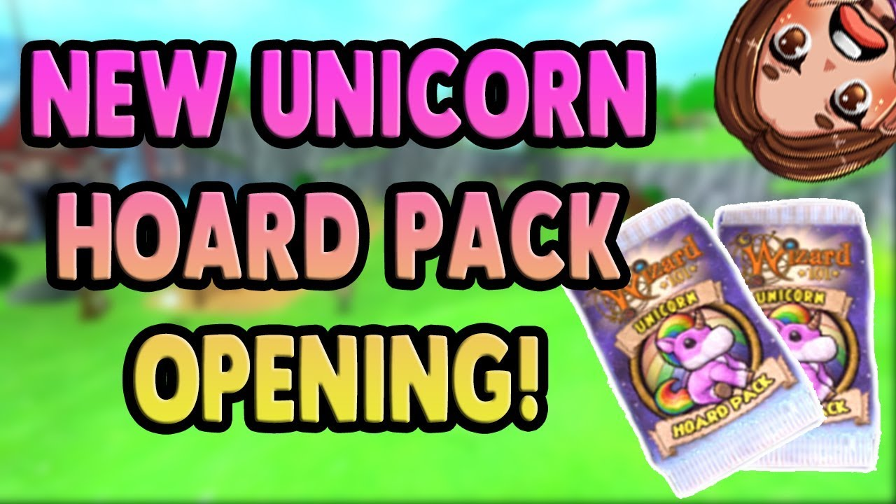 Wizard101 NEW Unicorn Hoard Pack Opening! 60,000 Worth Opened!
