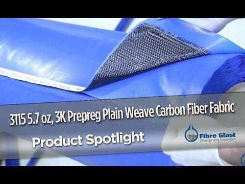 Prepreg 3K, Plain Weave Carbon Fiber Fabric