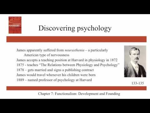 Functionalism: Development and Founding - Ch7 - History of Modern Psychology - Schultz & Schultz