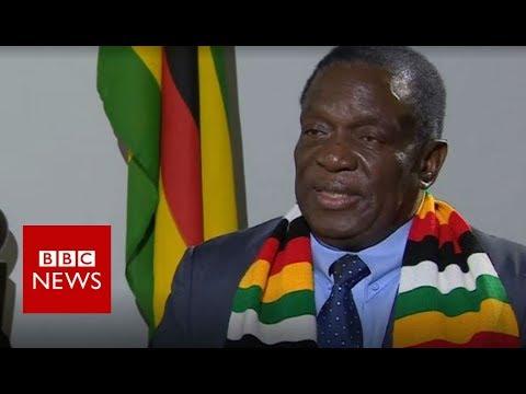 Zimbabwe President Mnangagwa says country is 'safe' - BBC News