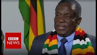 Zimbabwe President Mnangagwa says country is 'safe' - BBC News