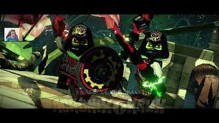 MASTER CHEN KRUX i ACRONIX - WALKI W DOJO - LEGO NINJAGO FILM GRA WIDEO - NINJAGO MOVIE