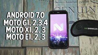 instalar android 7 0 nougat en moto e g x play 1 2 3 y 4 generacin   aosp rom