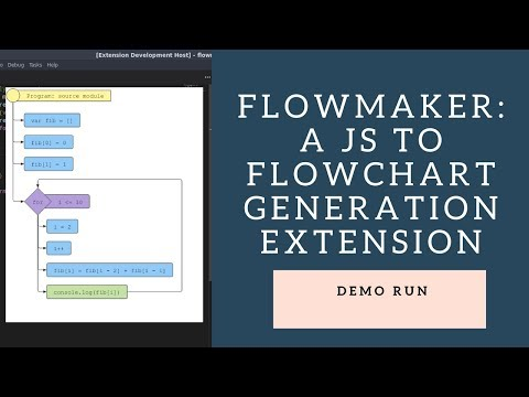 Flowmaker: A Javascript To Flowchart Visualization Extention For VSCode