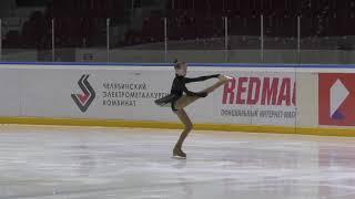 Первенство Челябинской области 2 спортивный девушки Короткая программа 16 Ева ЕВТУХОВА ПШМ