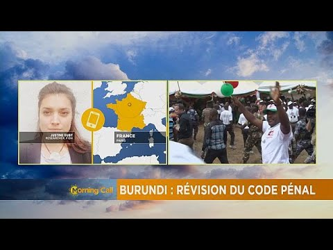 Burundi: Draft law changing the criminal code [The Morning Call]
