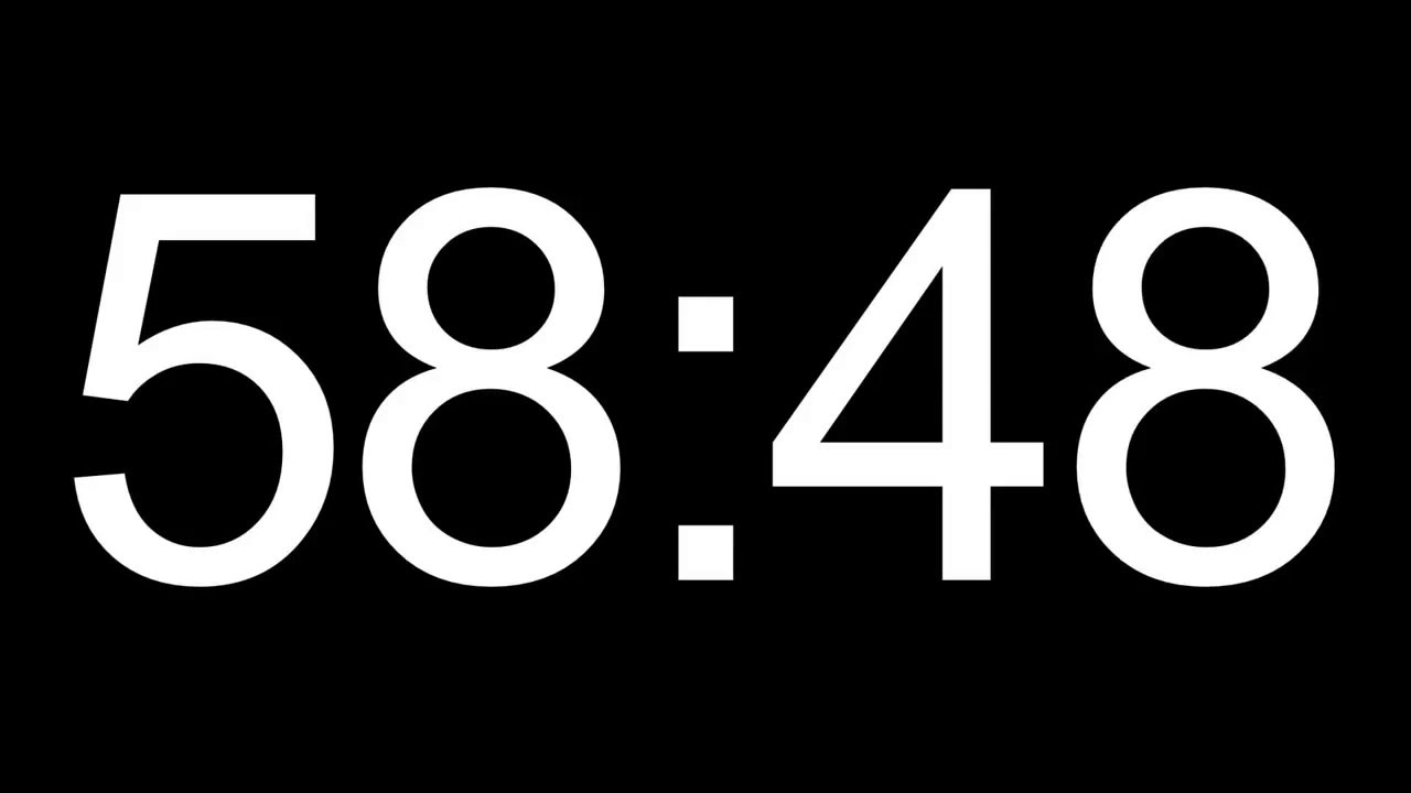 1 hour    60 minute hd countdown timer - with alarm
