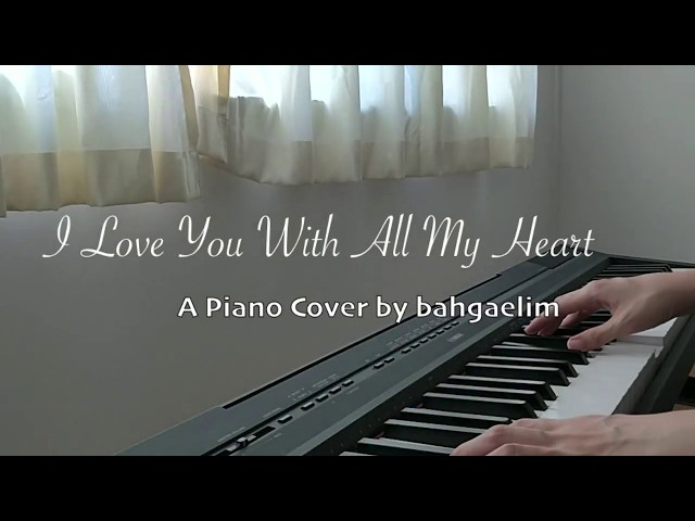 Damsonegongbang I Love You With All My Heart Piano