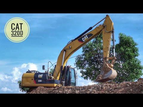 ดู รถแบคโฮ CAT ขุดดิน รถดั้มหกล้อ ขนดิน ดั้มเทดิน ถมที่ เพลินๆ Excavator Thailand truck Thailand