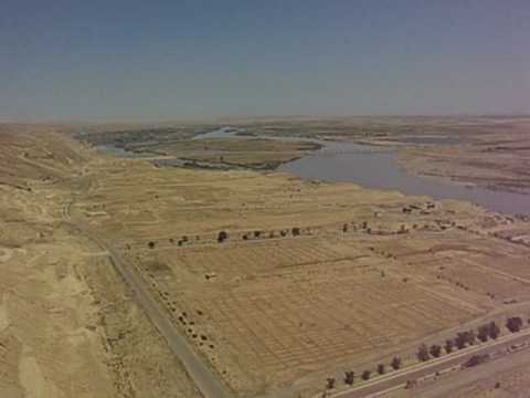 UH-60 Blackhawks flying over the Tigris river Iraq