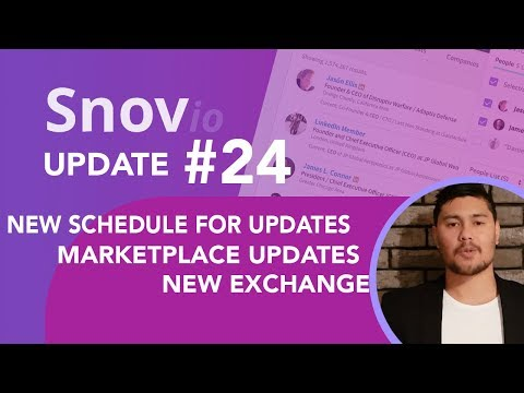 Snovio weekly updates - Week 24