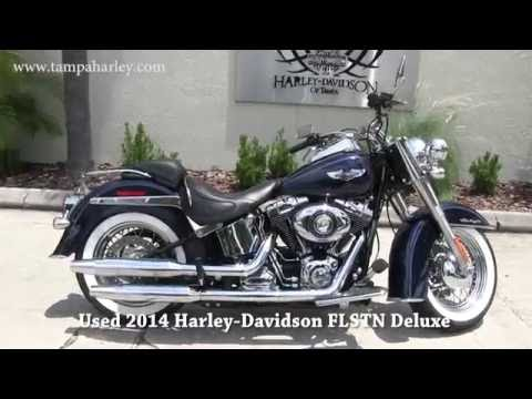 Used 2014 Harley Davidson Softail Deluxe for sale ebay - YouTube