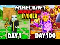 I Survived 100 Days as an EVOKER in Hardcore Minecraft.. Here's What Happened..