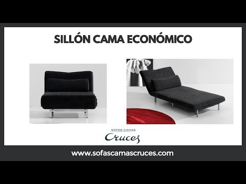 Sill n cama econ mico youtube for Sillon cama plegable goma espuma