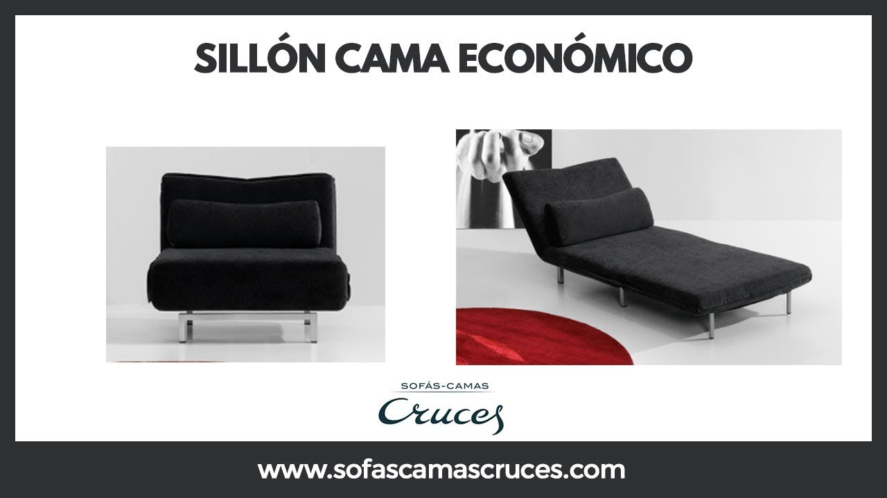 Sill n cama econ mico youtube for Sillon cama pequeno