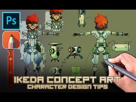 Ikeda Concept art – Character design process. (Commentary)