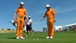 Wearing matching outfits, Blixt and Fowler
