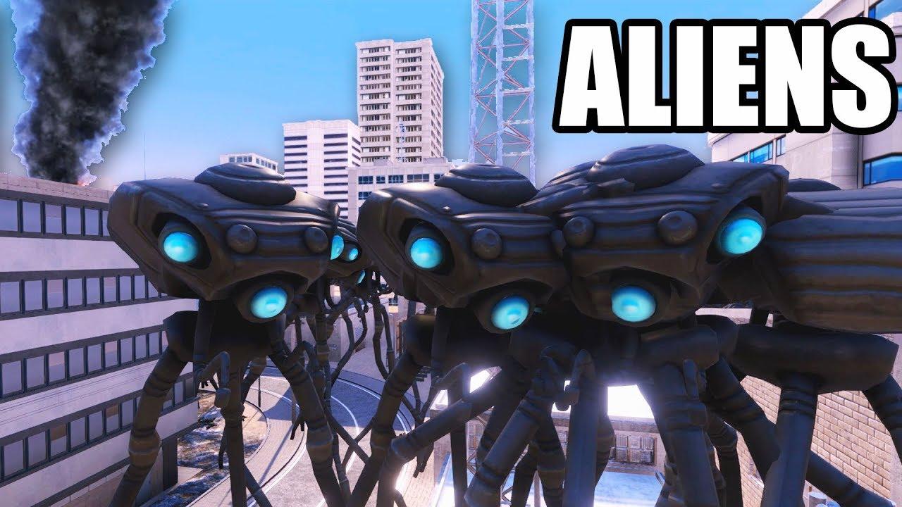 ALIEN Tripods Invade EARTH! Aliens vs Human Soldiers ...