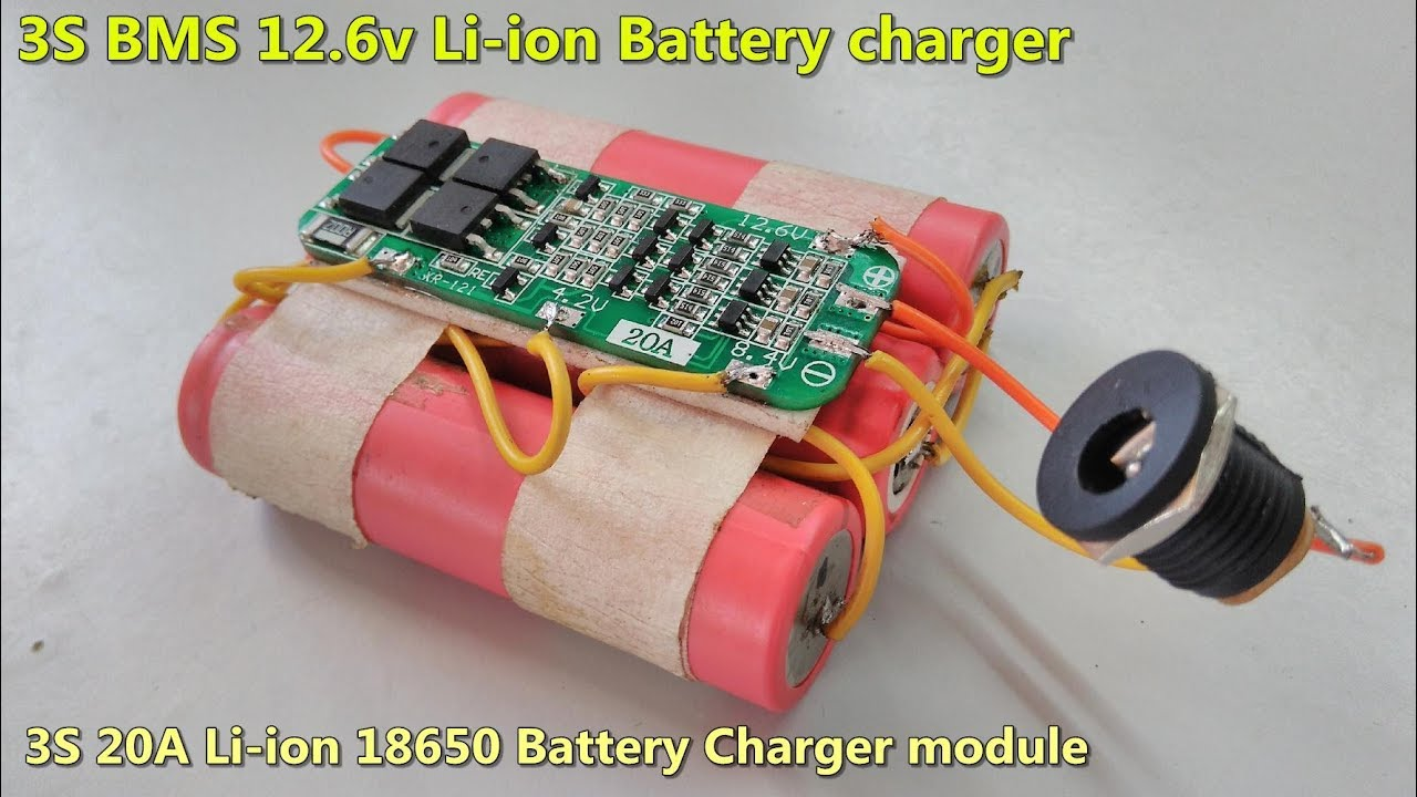 3S 12 6V Cell Li-ion 18650 Battery - 20A BMS Protection charger PCB module  Board / Low price