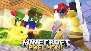 Minecraft Pixelmon : TAKING ON THE GYM POKEMON BATTLE #3