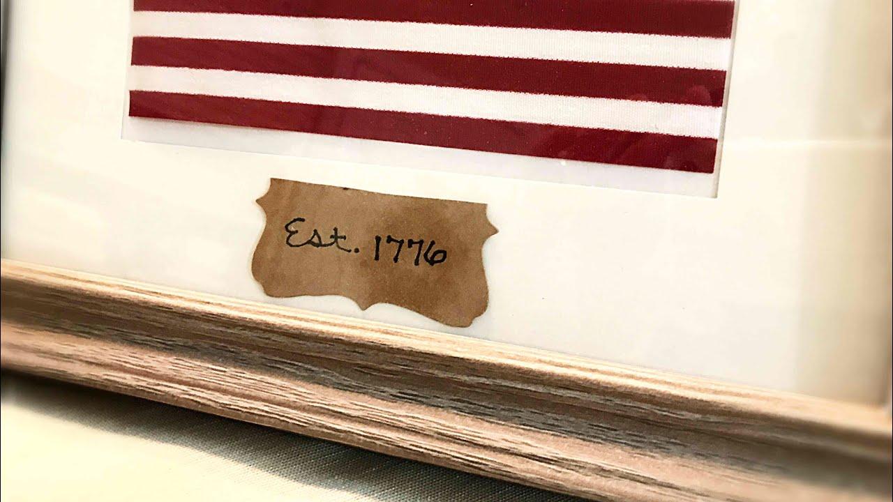Framed American Flag DIY Patriotic Decor Dollar Tree
