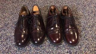The Oxford versus at the Derby shoe