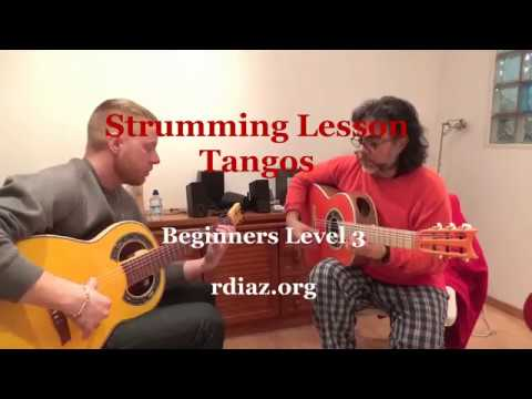 Strumming lesson por Tangos / Ezra (Canada) & Marc (Germany)  flamenco guitar learning