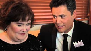Susan Boyle and Donny Osmond backstage interview