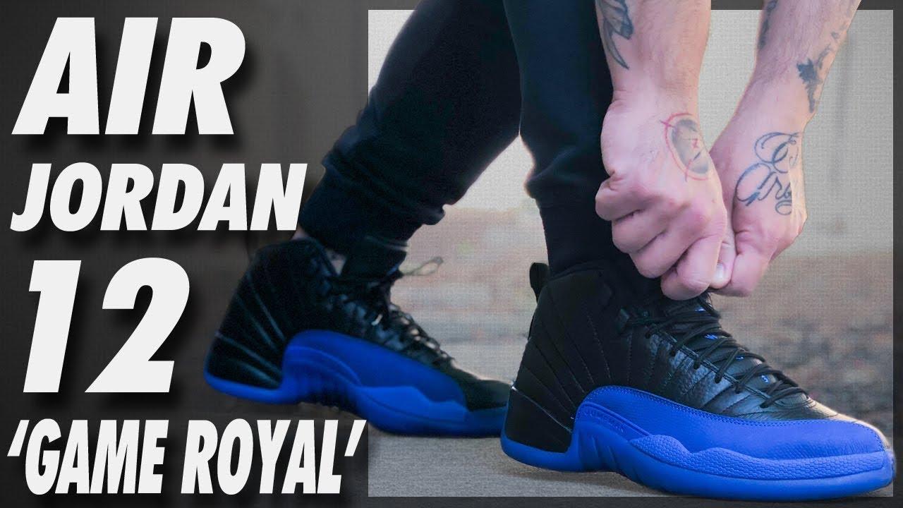 Air Jordan 12 Black Game Royal