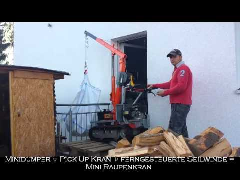 mini raupenkran mini dumper raupen dumper youtube. Black Bedroom Furniture Sets. Home Design Ideas