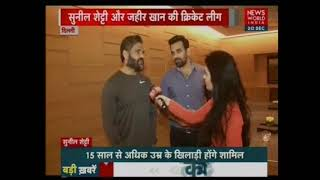 Zaheer Khan and Suniel Shetty speak to News World India about FCB