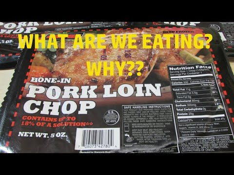 Dollar Tree ONE DOLLAR Pork Loin Chops - WHAT ARE WE EATING? - The Wolfe Pit