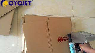 Video How to print logo on carton box with Red ink/Large Character Handjet Printer/Logo hand Printing download MP3, 3GP, MP4, WEBM, AVI, FLV September 2018