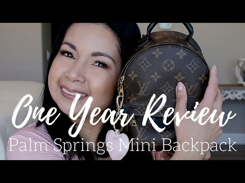Louis Vuitton Palm Springs Mini Backpack   One Year + Review   LalaLV
