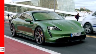 Electric 2020 Porsche Taycan Turbo S - Mamba Green